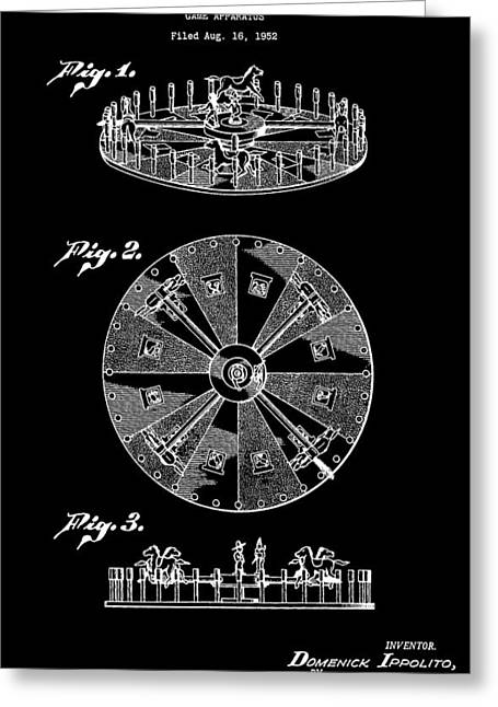 Roulettes Greeting Cards - Roulette Wheel Greeting Card by Dan Sproul
