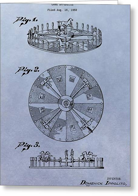 Win Greeting Cards - Roulette Wheel Patent Greeting Card by Dan Sproul