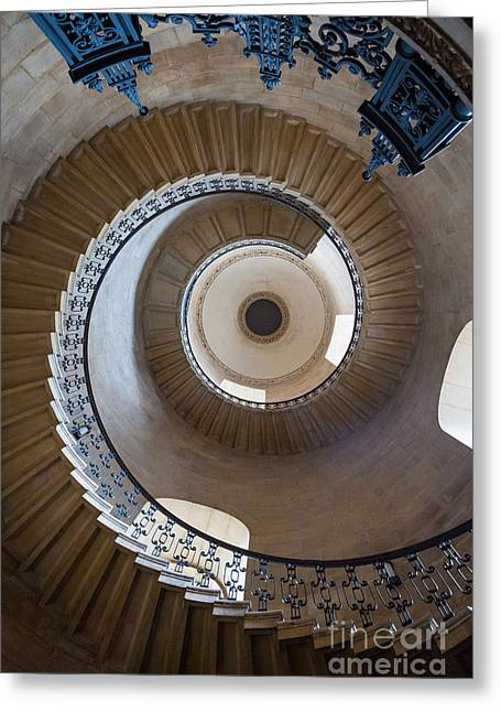 Spiral Staircase Photographs Greeting Cards - Round and Round Greeting Card by Inge Johnsson