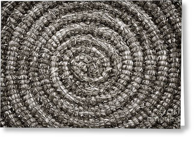 Woven Greeting Cards - Round and Round Greeting Card by John Farnan