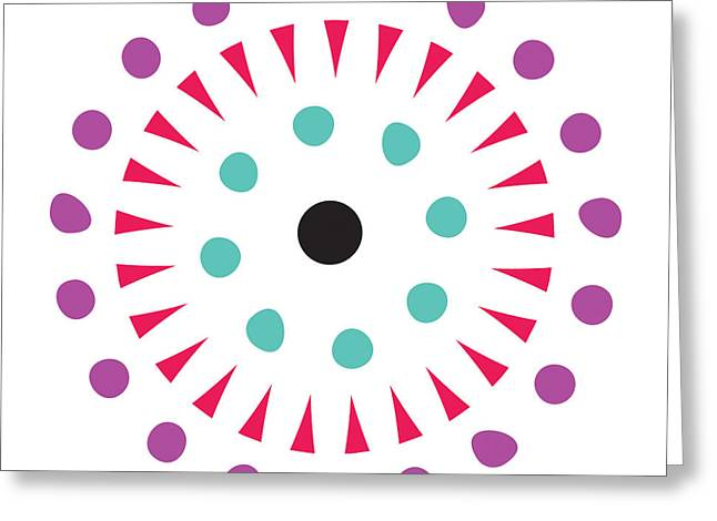 Susan Greeting Cards - Round And Round Greeting Card by Susan Claire