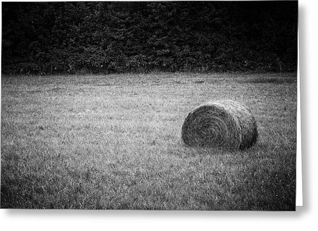 Bale Greeting Cards - Round Bale Greeting Card by Patrick M Lynch