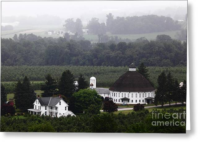 Round Barn Greeting Cards - Round Barn near Gettysburg Greeting Card by James Brunker