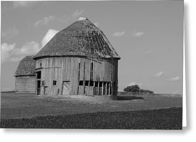 Rural Indiana Greeting Cards - Round Barn Greeting Card by Scott Kingery