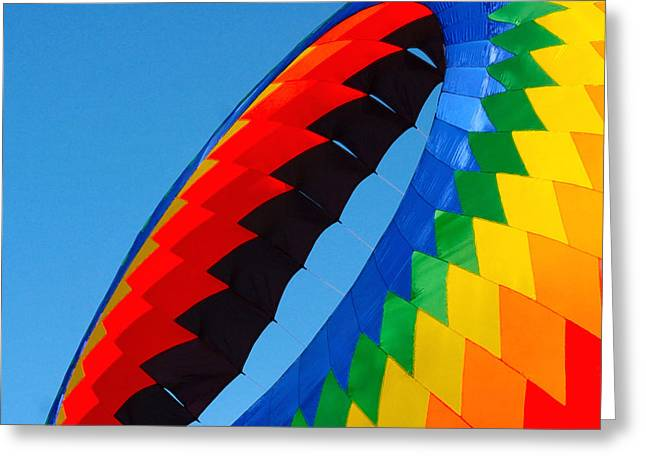 Kites Festival Greeting Cards - Round Kite Greeting Card by Art Block Collections
