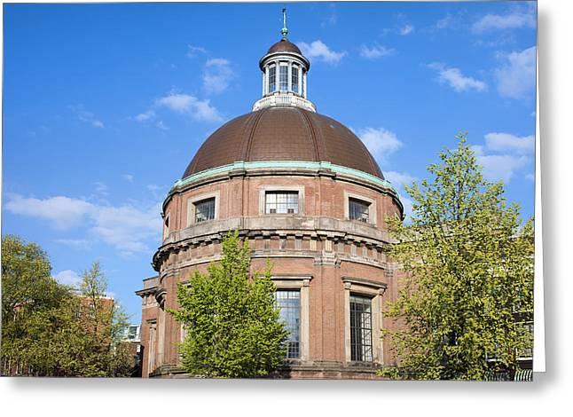 Cupola Greeting Cards - Round Lutheran Church in Amsterdam Greeting Card by Artur Bogacki