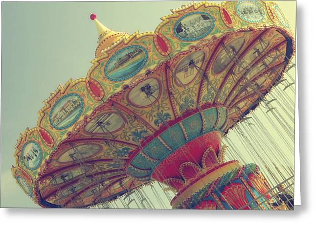 Santa Cruz Art Greeting Cards - Round N Round We Go... Greeting Card by Jennifer Ramirez