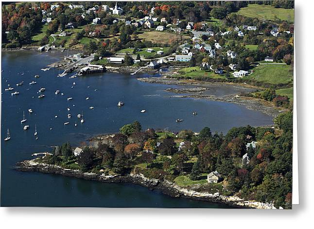 Maine Beach Greeting Cards - Round Pond, Maine Greeting Card by Dave Cleaveland