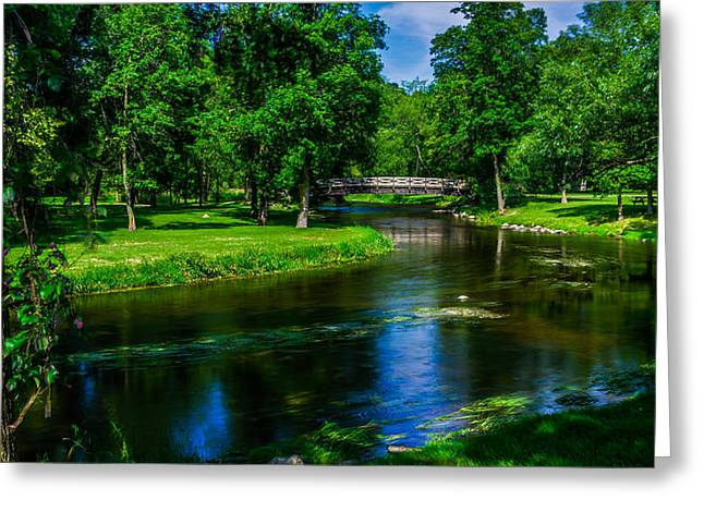 Cedar Creek Greeting Cards - Round The Bend Greeting Card by Randy Scherkenbach
