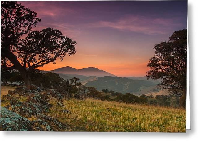 After Sunset Greeting Cards - Round Valley After Sunset Greeting Card by Marc Crumpler