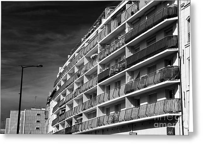 D.w Greeting Cards - Rounded in Marseille Greeting Card by John Rizzuto