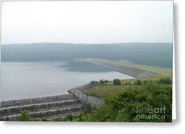 New York State; American Landscape; Rural; Countryside; New England; Church; Woodland; Trees; Hudson River School Greeting Cards - Roundout Reservoir Dam Greeting Card by Kevin Croitz