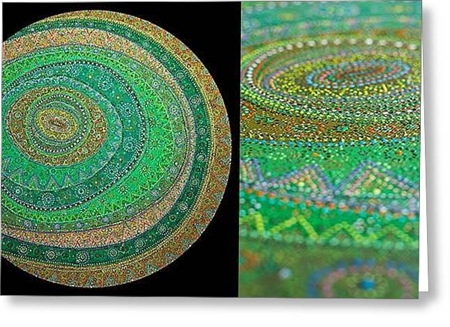 Oracular Greeting Cards - Rounds Greeting Card by Grass Hopper
