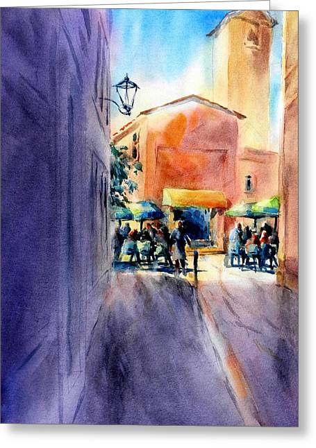 Umbrellas Greeting Cards - Roussillon Sun				 Greeting Card by Virgil Carter