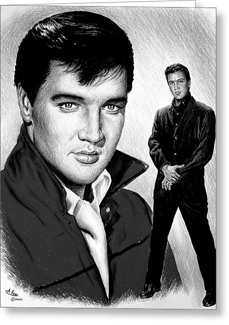 Movie Star Drawings Greeting Cards - Roustabout Greeting Card by Andrew Read