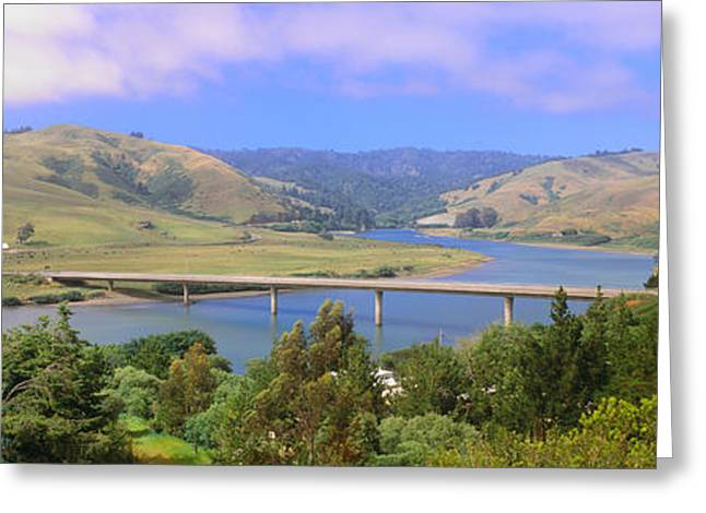 Route 1, Bridge Over Russian River Greeting Card by Panoramic Images