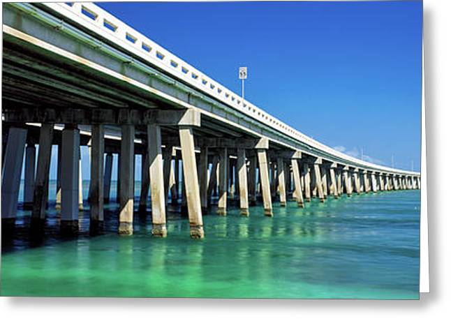 Route 1 Overseas Highway, Bahia Honda Greeting Card by Panoramic Images