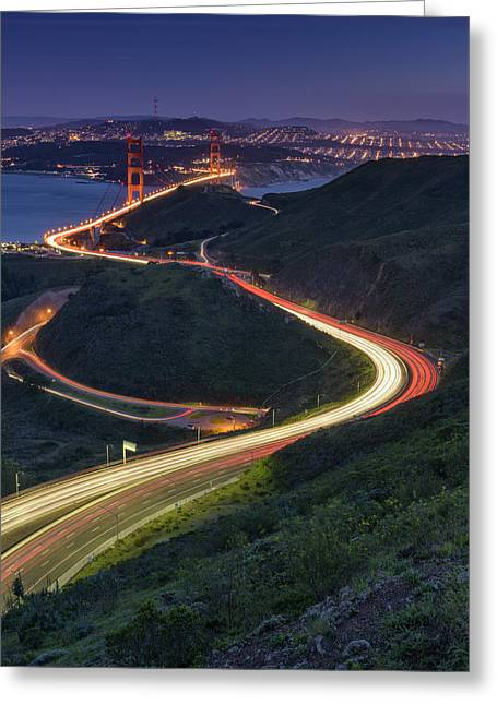 Golden Gate Greeting Cards - Route 101 Greeting Card by Rick Berk