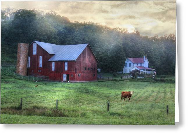 Barn Digital Greeting Cards - Route 118 Greeting Card by Lori Deiter