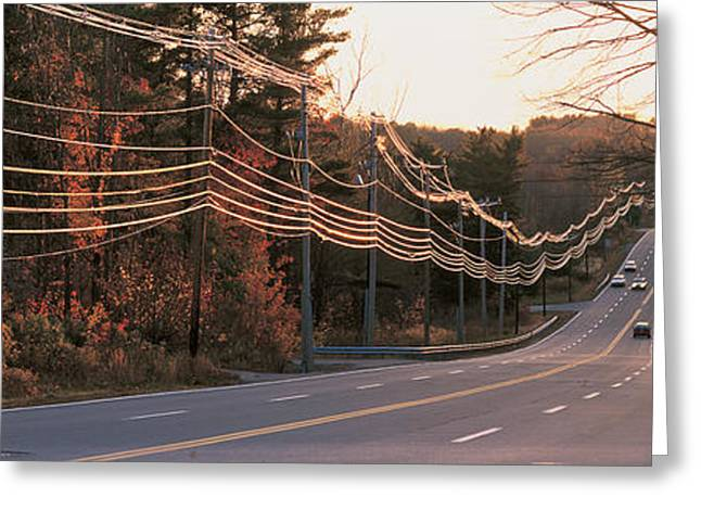 Roadway Greeting Cards - Route 20 Ma Usa Greeting Card by Panoramic Images