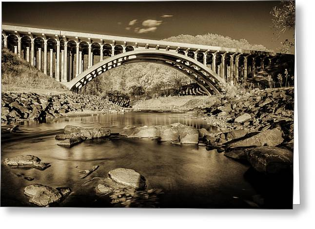 Catonsville Greeting Cards - Route 40 Bridge Greeting Card by Geoffrey Baker