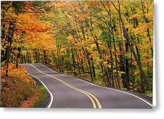 Colorful Photography Greeting Cards - Route 41 Keweenaw Peninsula Nr Copper Greeting Card by Panoramic Images