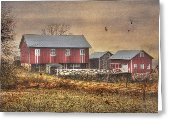 Berks County Greeting Cards - Route 419 Barn Greeting Card by Lori Deiter