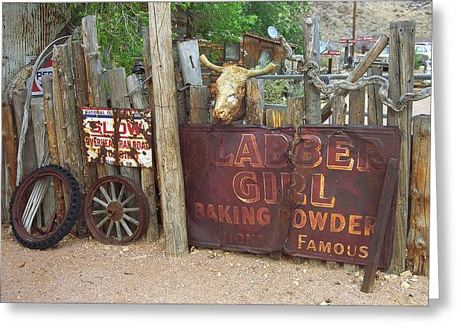 Historic Country Store Greeting Cards - Route 66 Artifacts Greeting Card by Frank Romeo