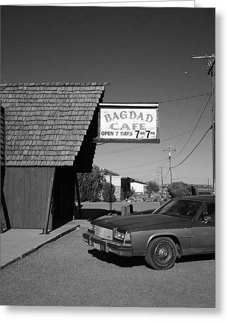 Best Sellers -  - Baghdad Prints Greeting Cards - Route 66 - Bagdad Cafe 6 Greeting Card by Frank Romeo