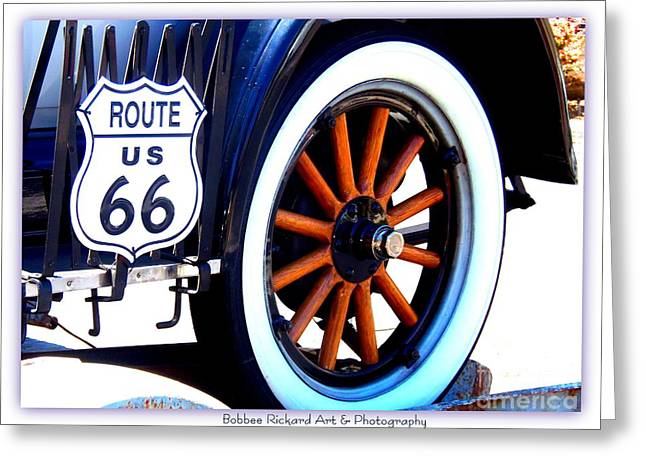 Print On Acrylic Greeting Cards - Route 66 Greeting Card by Bobbee Rickard
