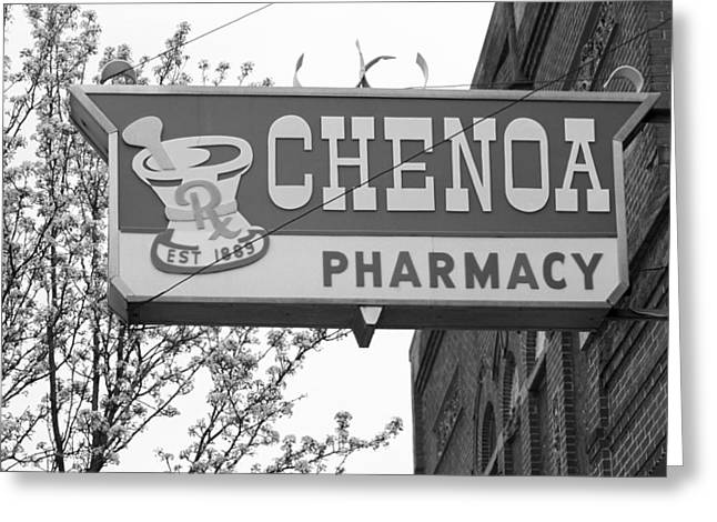 Historic Country Store Greeting Cards - Route 66 - Chenoa Pharmacy Greeting Card by Frank Romeo
