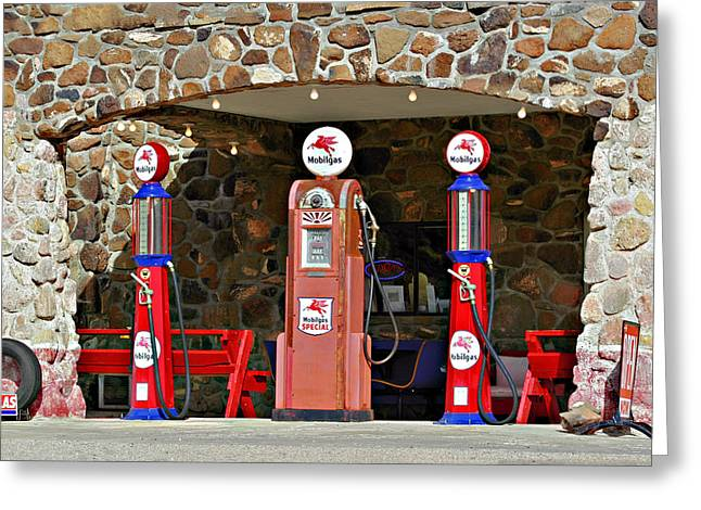 Industry Greeting Cards - Route 66 - Cool Springs Camp AZ Greeting Card by Christine Till