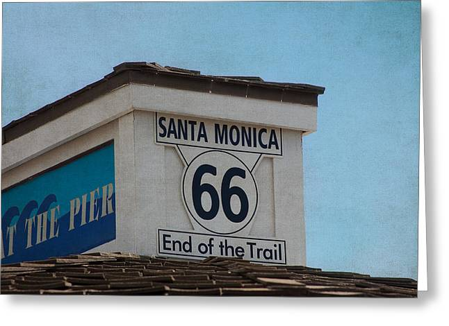 Route 66 - End Of The Trail Greeting Card by Kim Hojnacki