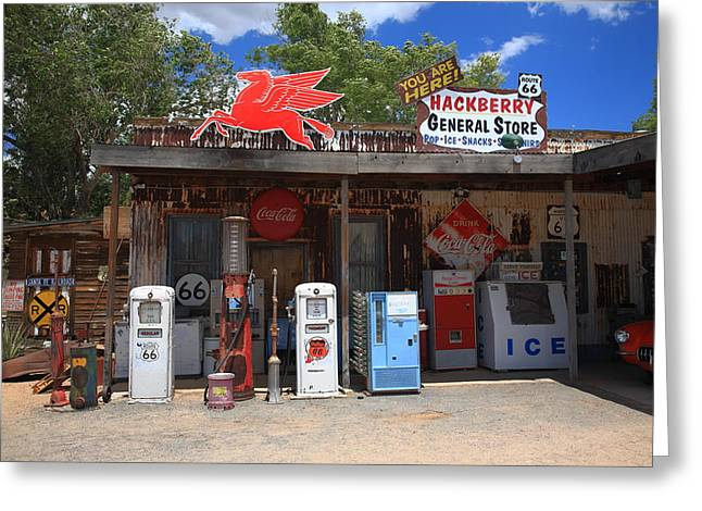 Best Sellers -  - Historic Country Store Greeting Cards - Route 66 - Hackberry General Store Greeting Card by Frank Romeo