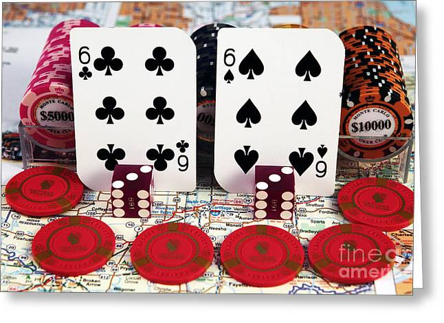 Still Life Photographs Greeting Cards - Route 66 Hand Greeting Card by John Rizzuto