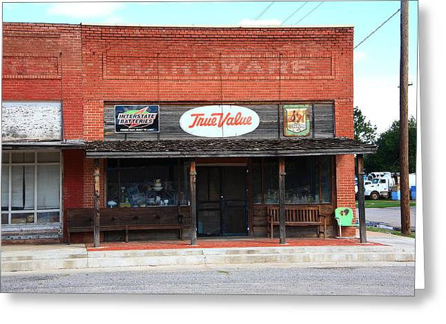 Hardware Greeting Cards - Route 66 - Hardware Store Erick Oklahoma Greeting Card by Frank Romeo