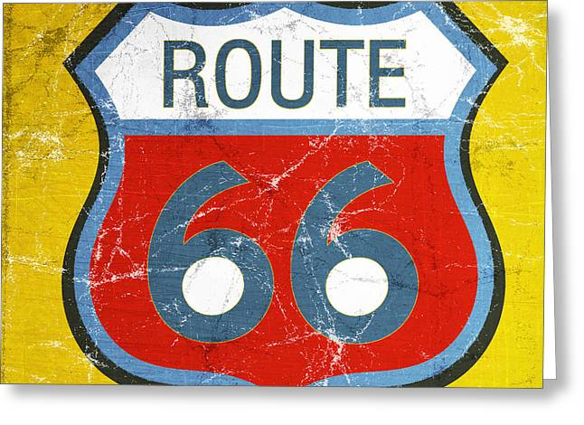 Road Trip Greeting Cards - Route 66 Greeting Card by Linda Woods