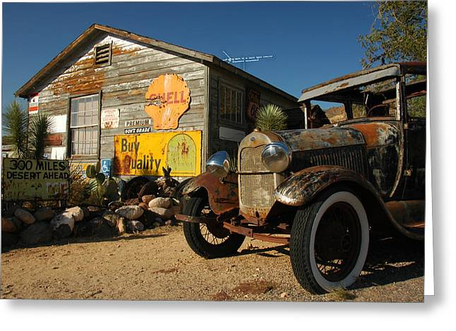 Route 66 Greeting Card by Paul Van Baardwijk