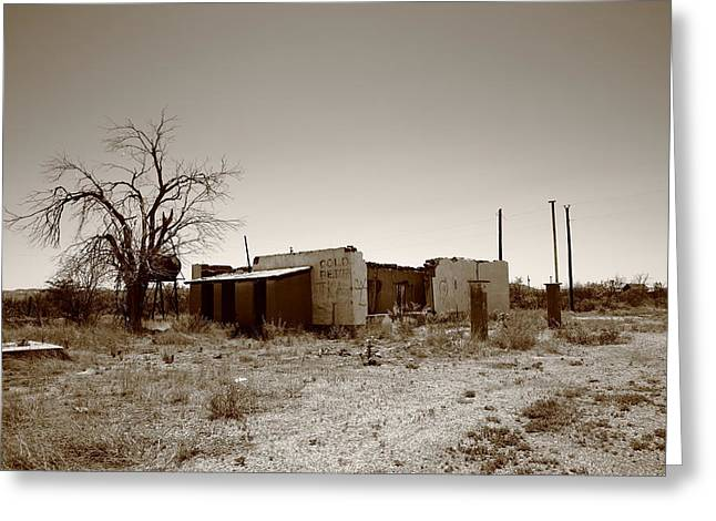 Historic Country Store Greeting Cards - Route 66 Ruins Greeting Card by Frank Romeo