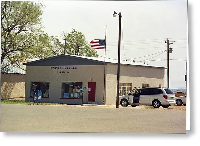 Half Staff Greeting Cards - Route 66 - San Jon Post Office Greeting Card by Frank Romeo
