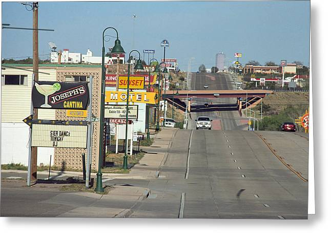 Cantina Greeting Cards - Route 66 - Santa Rosa New Mexico Greeting Card by Frank Romeo