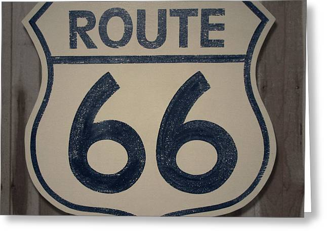 Movie Prop Paintings Greeting Cards - Route 66 Sign Greeting Card by Bill Jonas