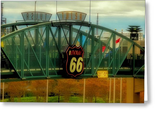 Route 66 Polaroid - Large Format - No Transfer Border Greeting Card by Tony Grider
