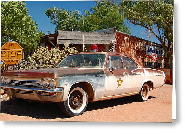 Police Stop Greeting Cards - Route 66 two Greeting Card by Leticia Latocki