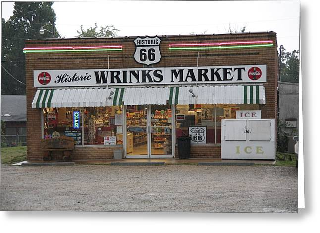 66 Greeting Cards - Route 66 - Wrinks Market Greeting Card by Frank Romeo