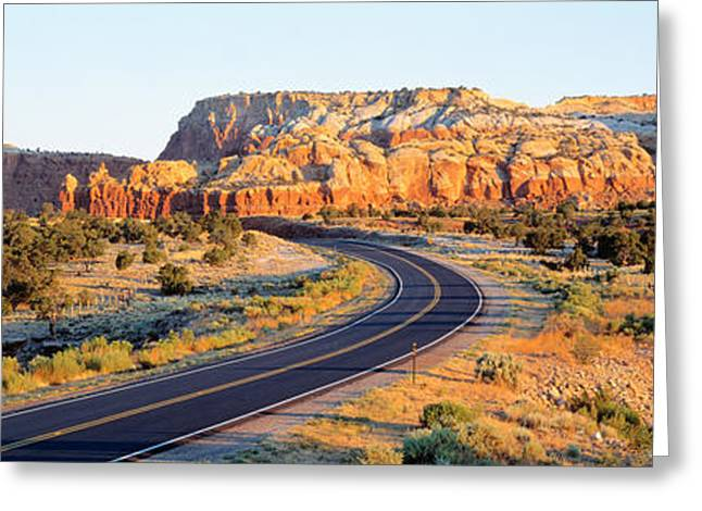 Roadway Greeting Cards - Route 84 Nm Usa Greeting Card by Panoramic Images