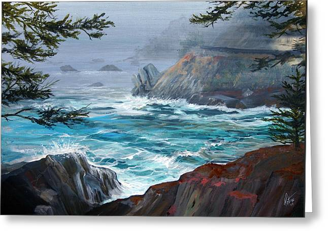 Route One The Rocky Road Greeting Card by Gregory Peters