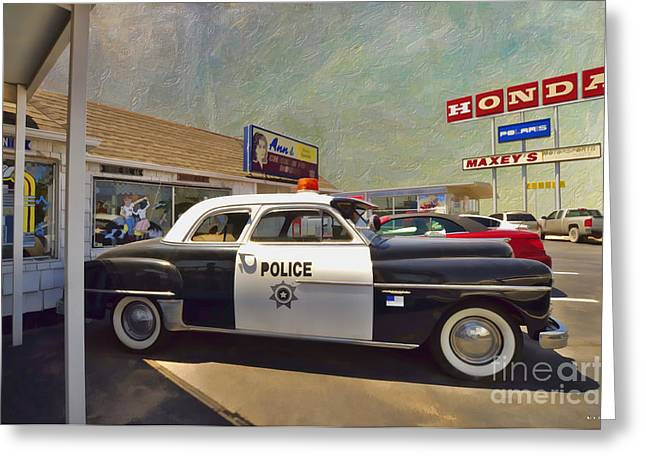 Route Us 66 Greeting Card by Liane Wright