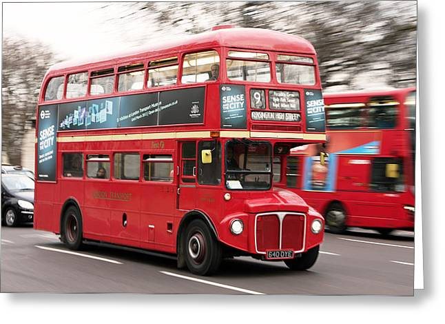 Colin Hogan Greeting Cards - Routemaster - ref 3784 Greeting Card by Colin Hogan