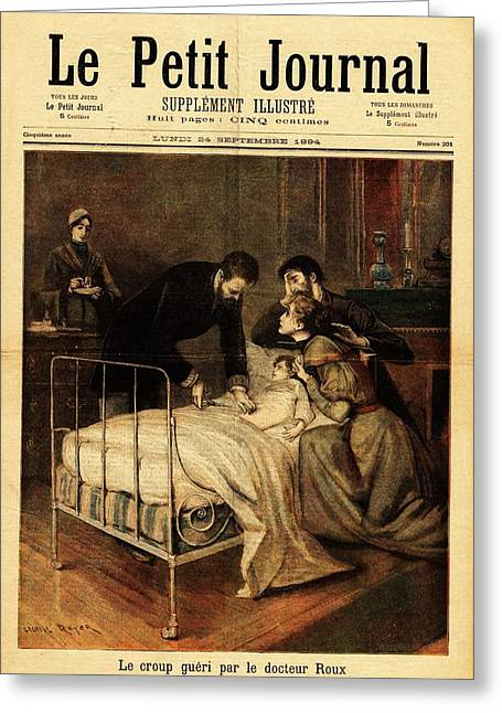 Roux Treating Croup Greeting Card by National Library Of Medicine